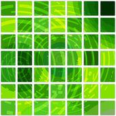 Kare yeşil döşeme arka plan — Stok Vektör