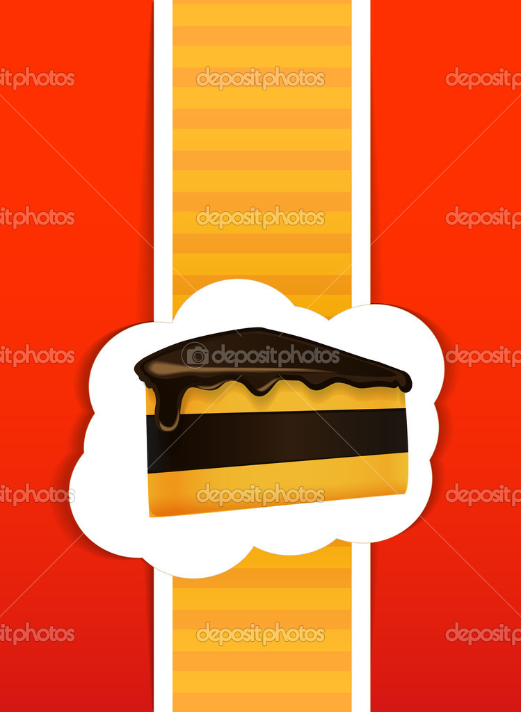 Piece of a pie card — Stock Vector #9732022