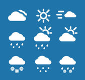Weather conditon icons collection — Stock Vector