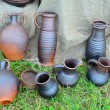 Group of different ceramics — Stock Photo