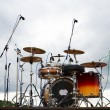 Stock Photo: Drums on stage in park