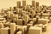 Modern city district abstract composition — Stock Photo