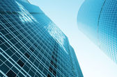 Abstract view of modern glass constructions — Stock Photo