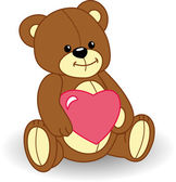 Bear in love — Stock Vector