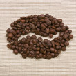 Coffee bean symbol — Stock Photo