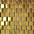 Gold block background — Stock Photo