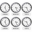 World Clocks(Time) — Stock Photo