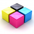 CMYK boxes — Stock Photo