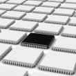 Computer chip (3d background) — Stock Photo