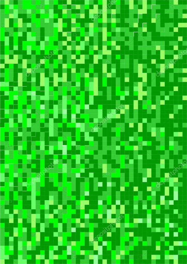 Vector image contains a chaotic set of squares of green shades — Stockfoto #10188410