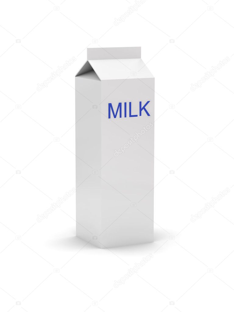 Gable top carton from Tetra Pak with a label - milk (or for logo presentation or other client rendition)  Stock Photo #10188527
