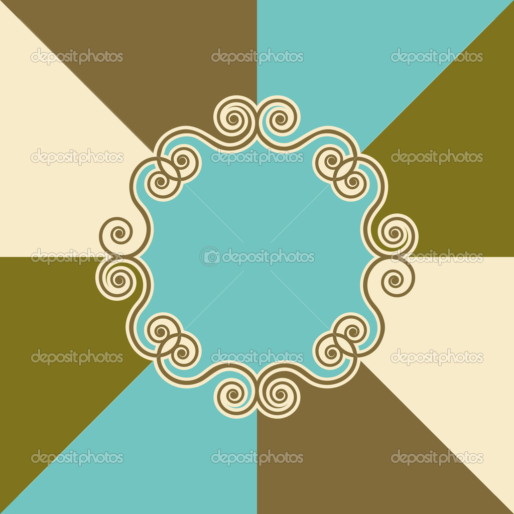 Background design with swirls - Vector. — Stock Vector #8470321