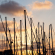 Masts of ships — Stock Photo