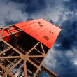 Mine shaft tower - Stock Photo