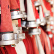Stock Photo: Fire hoses