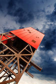 Mine shaft tower — Stock Photo
