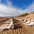 Chairs on  beach - Stock Photo