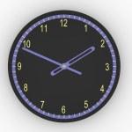 Black clock — Stock Photo