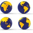 Stock Photo: 3d globe set