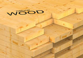 Stack of planks — Stock Photo