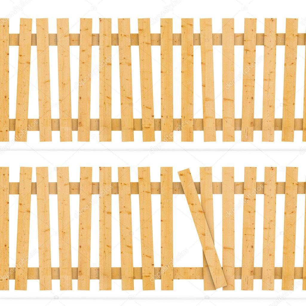 木栅栏 - 图库图片