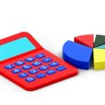 Calculator and diagram — Stock Photo
