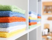 Stack of towel — 图库照片