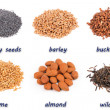 Stock Photo: Nuts and seeds
