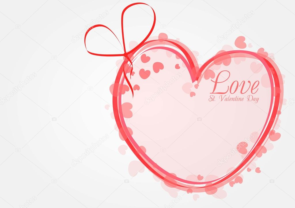 Vector valentines background with heart — Stock Vector #8427208