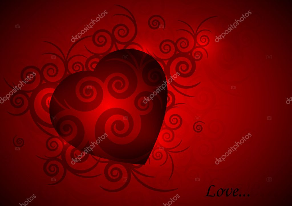 Valentines background  Stockvectorbeeld #8523931