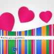 Stock Vector: Vector valentines background with heart