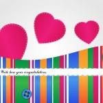 Vektor Valentinstag Hintergrund mit Herz — Stockvektor