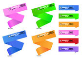 Origami Banners — Stockvector