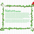 Nature vector background — Stock Vector