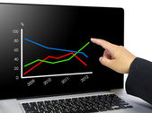 Business chart — Foto Stock