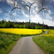 Spring landscape with wind turbine — Stock Photo #10104492