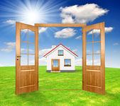 Aprire la porta — Foto Stock