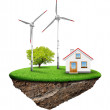 The house with wind turbine — Stock Photo #10671759