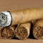Cigar burned — Stock Photo