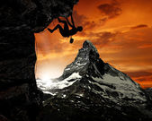 Alpinistas — Foto Stock