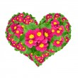 Stock Photo: Flower heart
