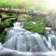 Waterfall in the national park Sumava — Stock Photo #8002745
