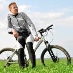 Mountain biker — Stock Photo #8027356