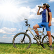 Mountain biker — Stockfoto