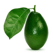 Avocado with leaves — Stock Photo