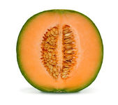 Cantaloupe melon isolated — Stock Photo