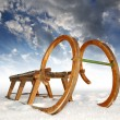 Wooden sledge — Stock Photo #8086536
