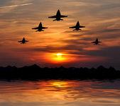 Five bombers — Stock Photo