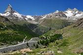Matterhorn - alpes suizos — Foto de Stock