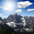 View of the mountain Brenta — Stock Photo